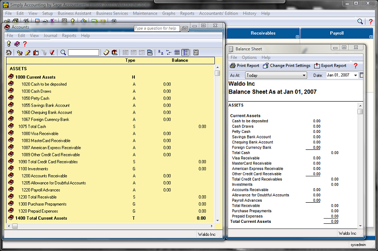 how to open general ledger in sage 50